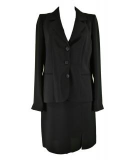 Čierny sukňový kostým