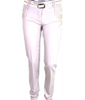 Dámske béžové elegantné nohavice