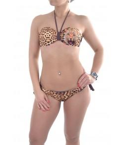 Bikiny leopard - hnedé