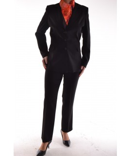 Dámsky nohavicový kostým - čierny D25