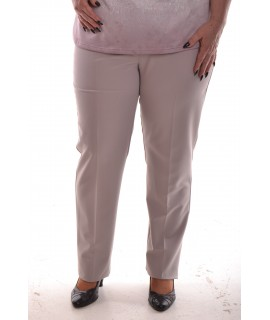 Dámske elastické nohavice - béžové