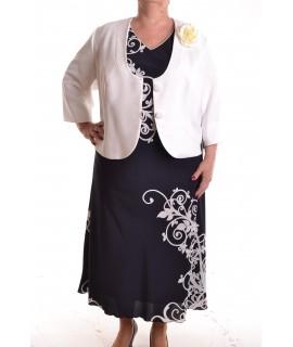 06800150c728 Dámske spoločenské šaty s kabátikom - maslovo-modré D3