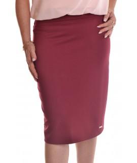 Dámska elastická sukňa - bordová