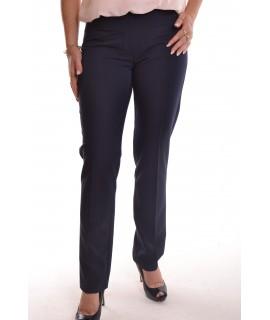 Dámske elastické nohavice - tmavomodré