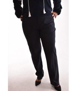 Dámske elastické elegantné nohavice s opaskom - kockované 6d3ab5a18dd
