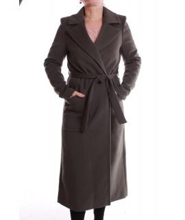Dámsky kabát - tmavozelený