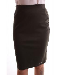Dámska elastická sukňa - vojensko zelená