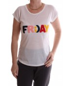"""Dámske tričko """"FRIDAY"""" - smotanové"""