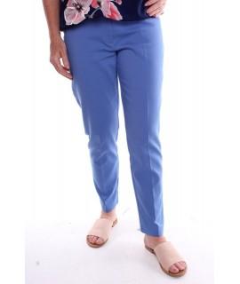 Dámske elastické nohavice - modré