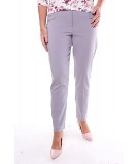 Dámske elastické nohavice - sivé