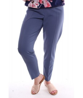 Dámske elastické nohavice - sivo-modré