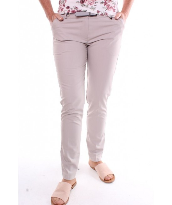 Dámske elastické elegantné nohavice - béžové