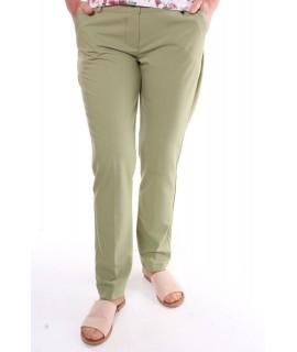 Dámske elastické elegantné nohavice - zelené