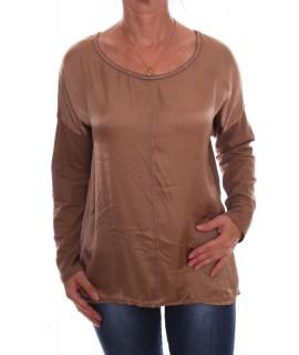 Dámske tričko - bledohnedé D3