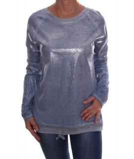 Dámske tričko so strieborným leskom - bledomodré D3