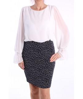 3cb239a5e182 Dámske elastické šaty (č. 38353) - tmavomodro-biele D3