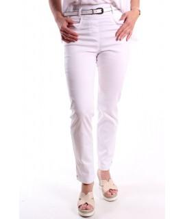 Dámske elastické nohavice 7/8 - biele 1.