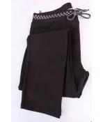 Dámske elastické športovo-elegantné nohavice (1453) - hnedo-čierne