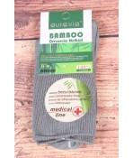 Dámske bambusové zdravotné ponožky (NN060) - sivé