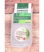 Dámske bambusové zdravotné ponožky (NN060) - bledosivé