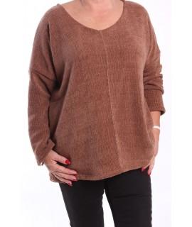 Dámsky pulóver - hnedý