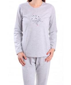 Dámske pyžamo JEŽKO - sivé