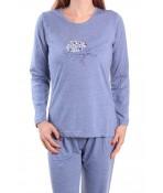 Dámske pyžamo JEŽKO - fialovo-modré