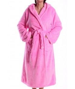 Dámsky župan s kapucňou NK2923) - ružový