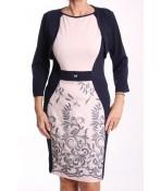 Dámske spoločenské šaty s bolerkom BOTEGA ELENA - modro-ružové