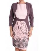 Dámske spoločenské šaty s bolerkom BOTEGA ELENA - ružovo-fialové