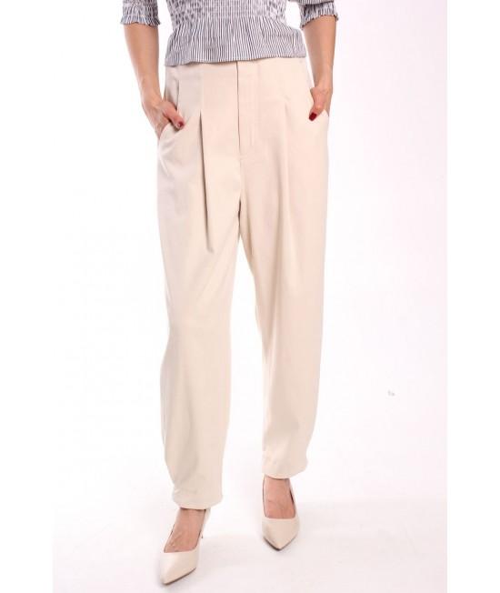 Dámske nohavice DILVIN PA7717 - béžové
