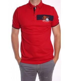 Pánska elastická poľokošeľa MARCOSTAR - P609 - červená