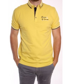 Pánska elastická poľokošeľa MARCOSTAR - P627 - žltá