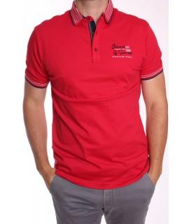 Pánska elastická poľokošeľa MARCOSTAR - P627 - červená