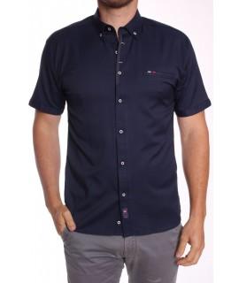 Pánska elastická košeľa s krátkym rukávom Rawlucci 1724 - modrá