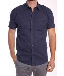 Pánska elastická košeľa s krátkym rukávom Rawlucci 1764 - modrá