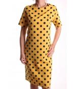 Dámske šaty bodkované NATA - žlté