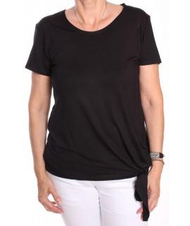 Dámske tričko na zaviazanie NATA - čierne