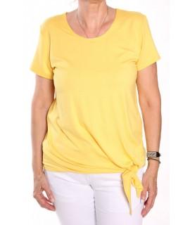 Dámske tričko na zaviazanie NATA - žlté