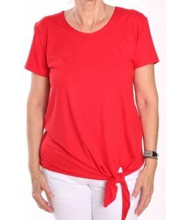 Dámske tričko na zaviazanie NATA - červené