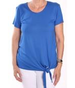 Dámske tričko na zaviazanie NATA - kráľovské modré