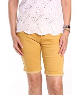 Dámske elastické krátke nohavice MG 525-33 M.SARA - žlté