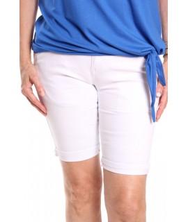 Dámske elastické krátke nohavice MG 525-12 M.SARA - biele