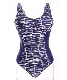 Dámske plavky (385) - bielo-modré