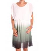 Dámske letné šaty - zeleno-biele