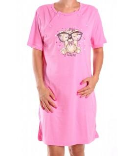 Dámska nočná košeľa kojenecká - ružová