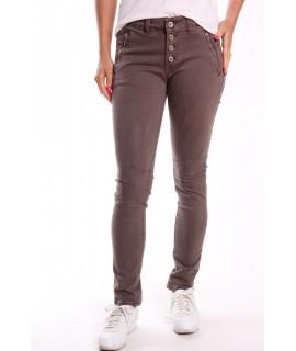 Dámske elastické nohavice (3976) - sivo-hnedé