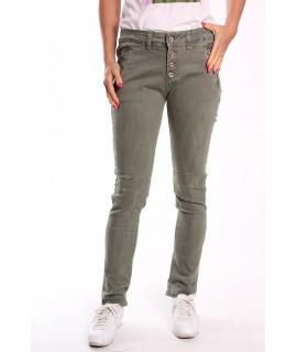 Dámske elastické nohavice (3976) - zelené