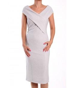 Dámske spoločenské šaty ARIN 38596 - strieborné