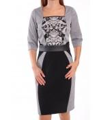 Dámske elastické šaty CHÉRIE THÉRÉSE - bielo-čierne